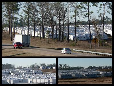 Photograph - Fema Trailer Staging Area by Kathy K McClellan