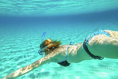 Photograph - Female Apnea Bikini by Benny Marty