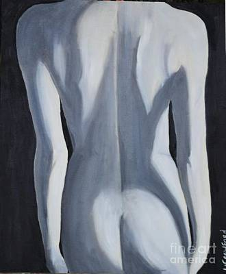 Painting - female Black and White by Lori Jacobus-Crawford