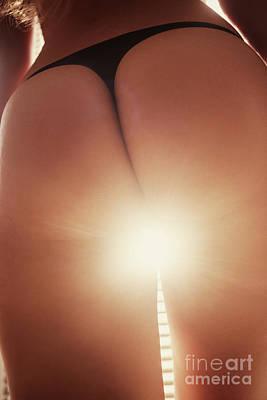 Woman Buttocks Photograph - Female Buttocks In Sunlight by Aleksey Tugolukov