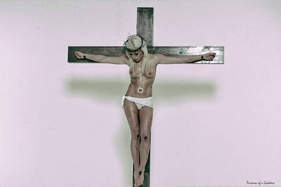 Jesus Crucifiction Photograph - Female Crucifix Xv by Ramon Martinez