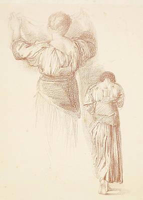Female Drapery Studies Art Print by Edward Burne-Jones