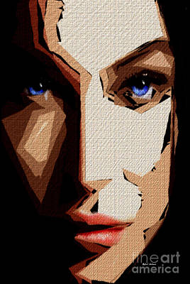 Tribute To Women Digital Art - Female Expressions Lvi by Rafael Salazar