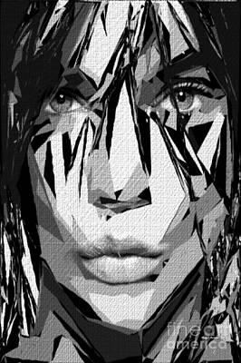 Digital Art - Female Expressions Xl by Rafael Salazar