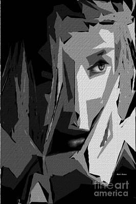Digital Art - Female Expressions Xlv by Rafael Salazar