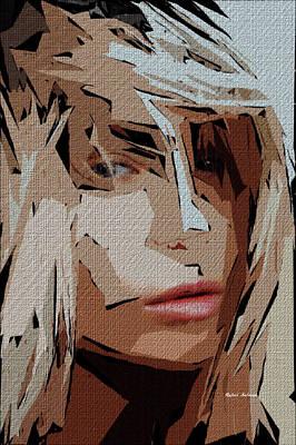 Tribute To Women Digital Art - Female Expressions Xx by Rafael Salazar