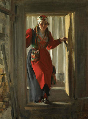 Anders Zorn Painting - Female Figure by Anders Zorn