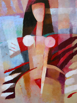 Abstract Nude Painting - Female Impression by Lutz Baar