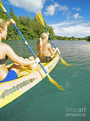 Female Kayakers Art Print
