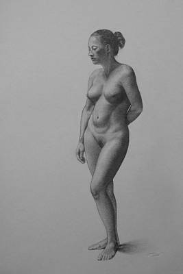 Drawing - Female Life Drawing by Dee Dee Whittle