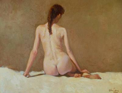 Female Nude   Back View      Art Print by David Olander