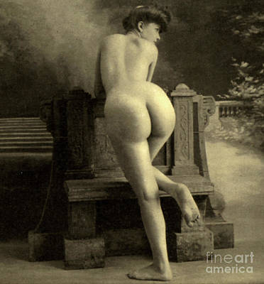 Female Nude, Circa 1900 Art Print by French School