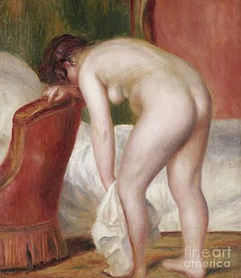 Painting - Female Nude Drying Herself by Pierre Auguste Renoir