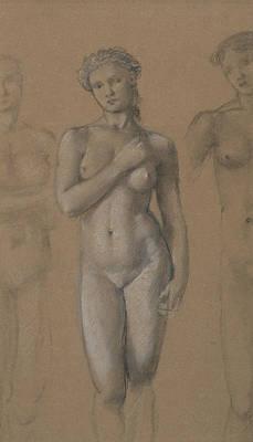 Venus Drawing - Female Nude by Edward Burne-Jones