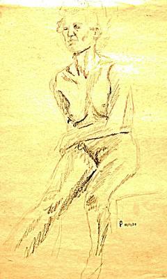 Female Nude With Arm Across Art Print