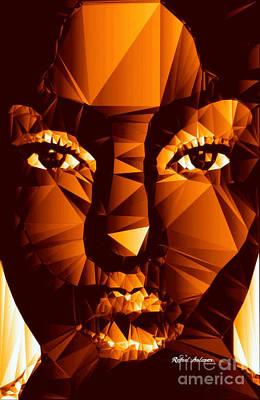 Digital Art - Female Portrait In Brown by Rafael Salazar
