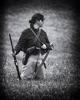 Photograph - Female Soldier by Alan Raasch
