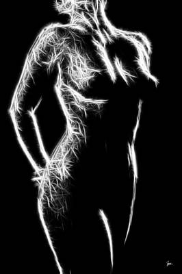 Rhythm And Blues Digital Art - Female Study Nude 44 - Prints Up To 72 Inches by Sir Josef - Social Critic -  Maha Art
