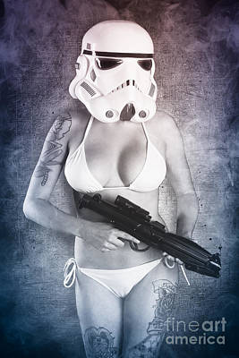 Female Tattoo Trooper Art Print