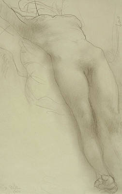 Reclining Drawing - Female Torso by Auguste Rodin