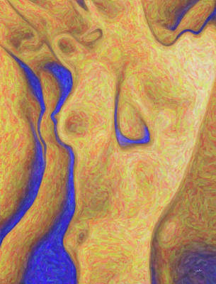 Abstract Female Torso Painting -  Female Torso by Quim Abella
