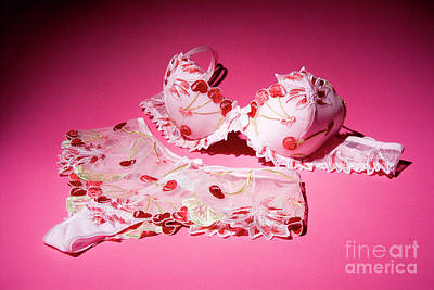 Female Underwear On Pink Background Art Print