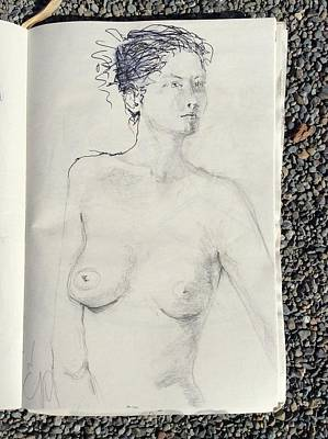 Drawing - Female Upper Torso 1 by Elizabeth Parashis