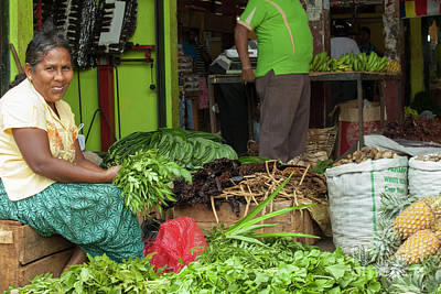 Photograph - Female Vendor At Asian Market by Patricia Hofmeester