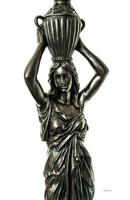 Photograph - Female Water Goddess Bronze Statue 3288a by Ricardos Creations