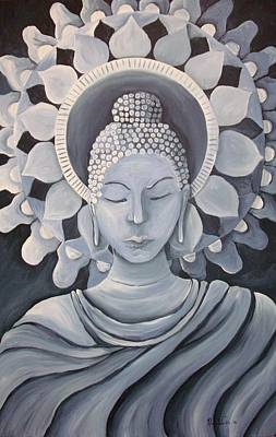 Feminine Buddha In A Peaceful Place Art Print by Nicole Werth