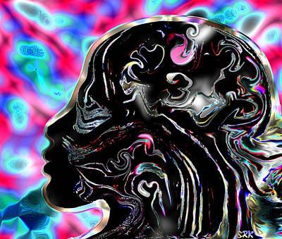 Faith Hope And Love Digital Art - Feminine Elegance by Abstract Angel Artist Stephen K