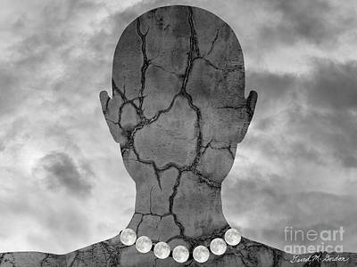 Photograph - Feminine Figure With Moon Necklace by Dave Gordon