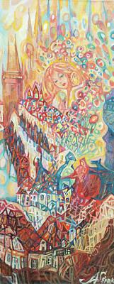 Painting - Feminine Spirit Of Prague by Anna Skorko