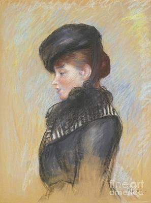 Renoir Painting - Femme A La Toque Noire  by MotionAge Designs