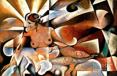Painting - Femme Cubiste by Pg Reproductions