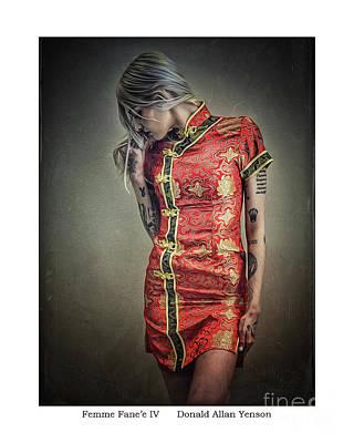 Photograph - Femme Fane'e Iv by Donald Yenson