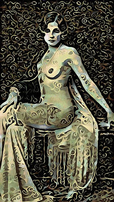 Seated Nude Girl Photograph - Femme Fatale by Susan Maxwell Schmidt