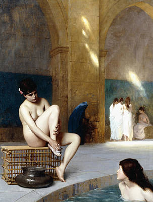 Turkish Painting - Femme Nue by Jean Leon Gerome