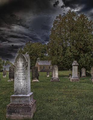 Haunted Digital Art - Femme Osage Cemetery by Bill Tiepelman