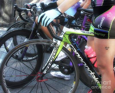 Bike Riding Digital Art - Femme Racing  by Steven Digman