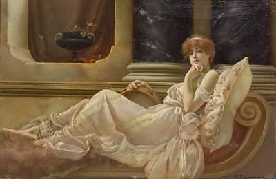 Femme Sur La Chaise Art Print