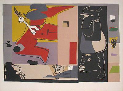 Mourlot Painting - Femme Unicorne by Le Corbusier