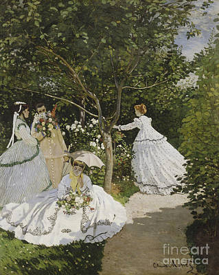 Jardin Painting - Femmes Au Jardin by Celestial Images