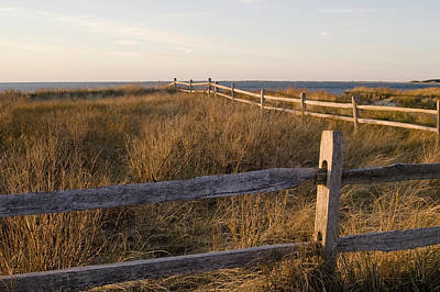 Fence Along The Dunes - Madaket - Nantucket Original by Henry Krauzyk