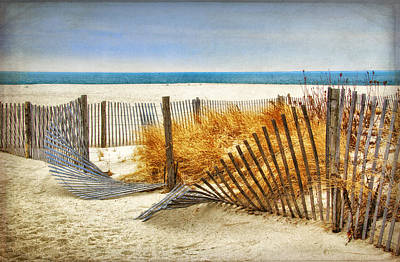Photograph - Fence Along The Dunes by Carolyn Derstine