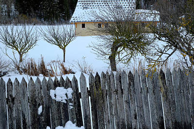 Photograph - Fence And House by August Timmermans