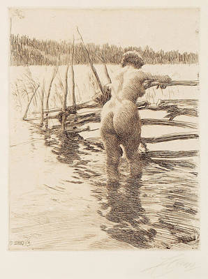 Drawing - Fence by Anders Zorn