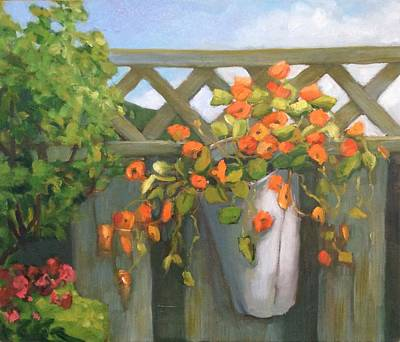 Painting - Fence Decor by Liliane Fournier