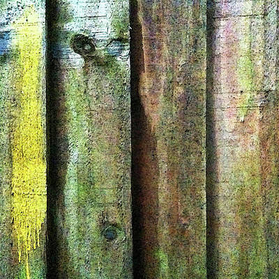 Photograph - Fence Detail, Yellow by Anne Kotan