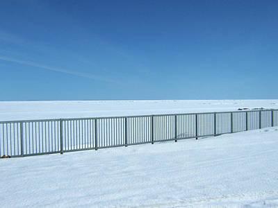 Fence In Snow Art Print
